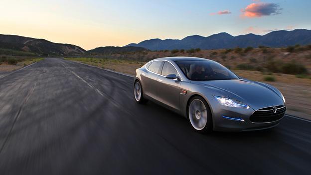 Tesla Model S Exterieur Front Dynamisch