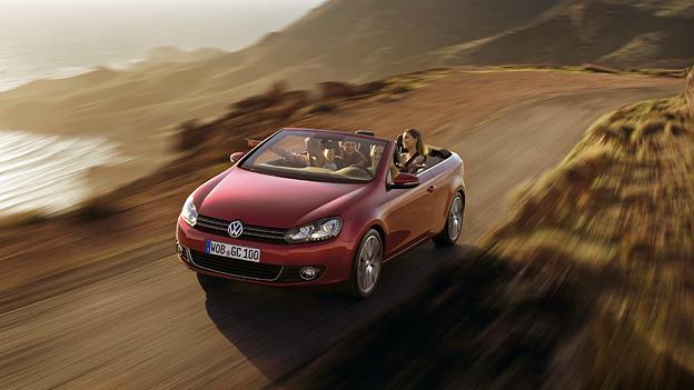 VW Golf Cabrio Exterieur Dynamisch Front oben