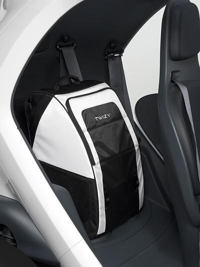 Renault Twizy Interieur Rucksack