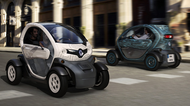 Renault Twizy Exterieuer Dynmaisch Front HEck Seite