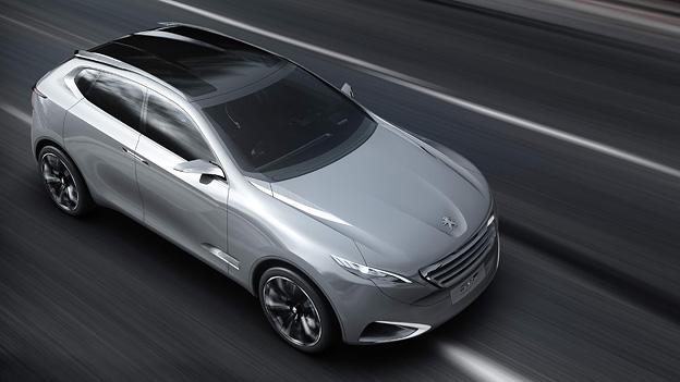 Peugeot SxC Exterieur Dynamisch Front Seite oben