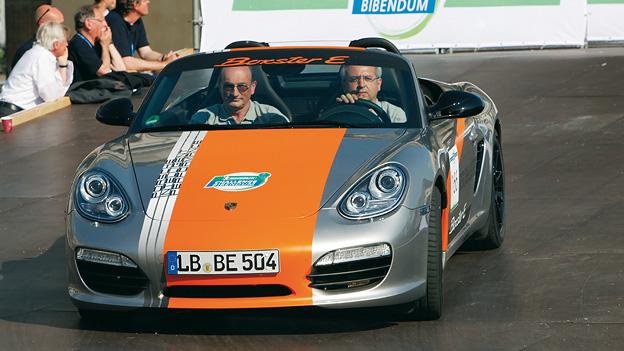 Porsche Boxster Elektroantrieb Front dynamisch