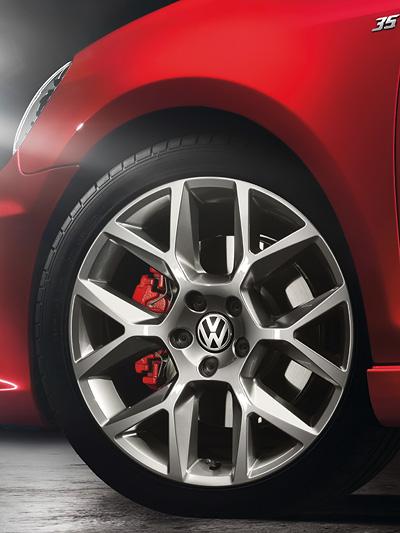 Golf GTI Edition 35 Exterieur Front Statisch Detail Reifen Felge