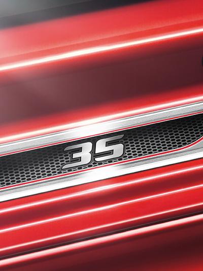 Golf GTI Edition 35 Exterieur Front Statisch Detail Schriftzug
