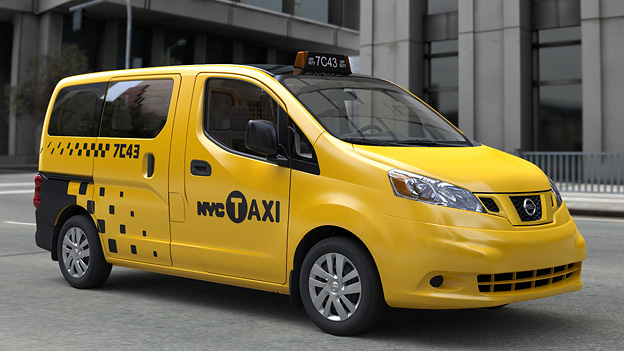 Nissan Taxi New York NV200 Yellow Cab Exterieur Front Seite