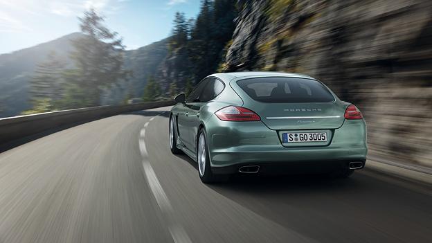 Porsche Panamera Diesel Exterieur Dynamisch Heck