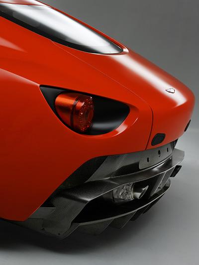 Aston Martin V12 Zagato Exterieur Statisch Heck