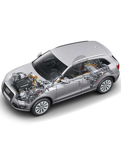 Audi Q5 Hybrid quattro Exterieur Technische Zeichnung