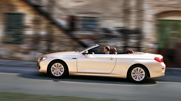 BMW 640i Cabrio Exterieur Dynamisch Seite