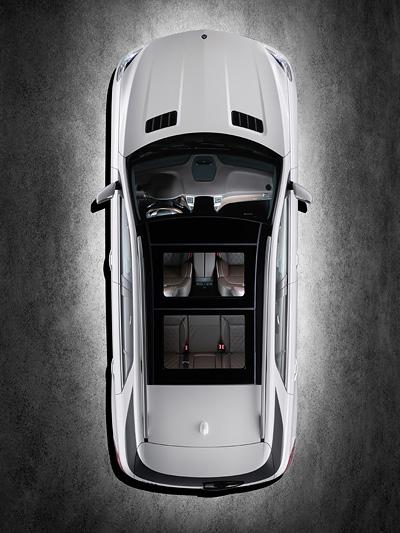 Mercedes M-Klasse Exterieur Statisch Oben Vogel