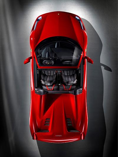 Ferrari 458 Spider Exterieur Statisch Oben
