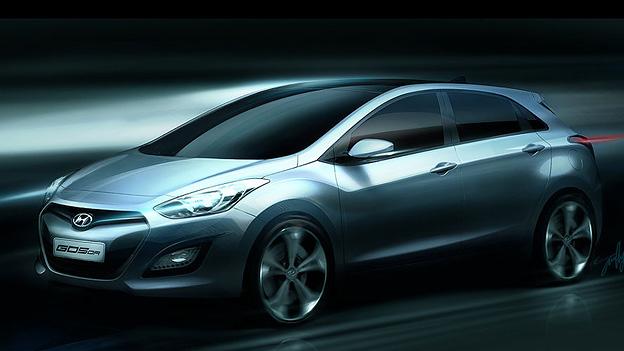 Hyundai i30 Skizze