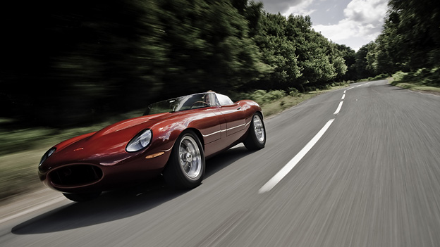 Jaguar Lightweight E-Type Speedster by Eagle Exterieur Dynamisch Front