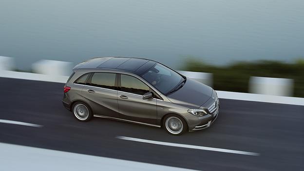 Mercedes-Benz B-Klase Exterieur Seite Dynamisch