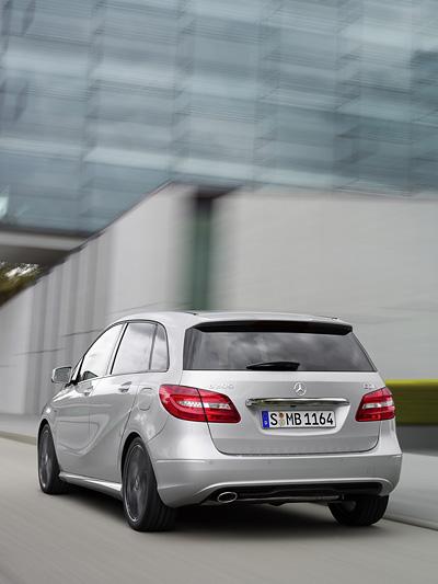 Mercedes-Benz B-Klase Exterieur Heck dynamisch