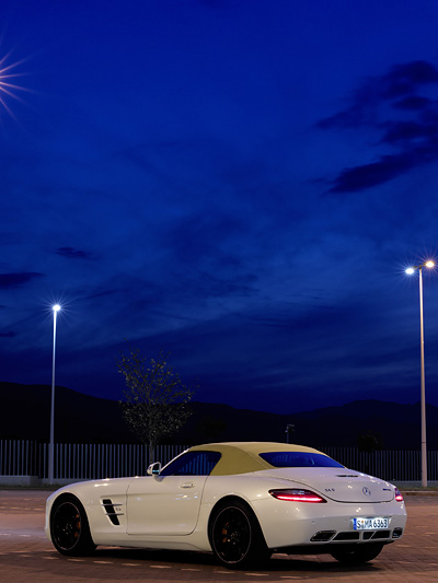 Mercedes-Benz SLS AMG Roadster Exterieur Statisch Seite Heck