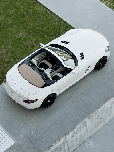 Mercedes-Benz SLS AMG Roadster Exterieur Statisch Oben