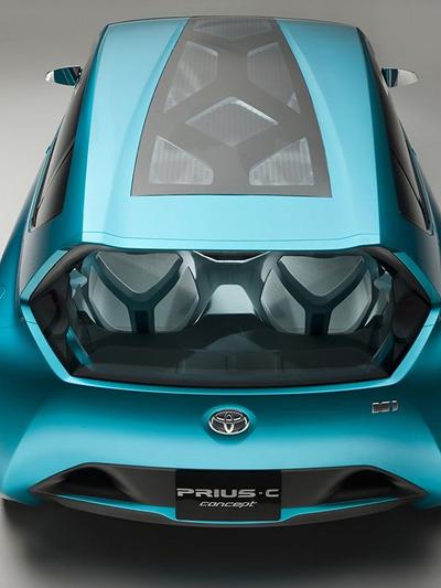 Toyota Aqua Prius Concept C Exterieur Statisch oben heck