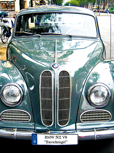 1954 Zeitreise Zeitmaschine borgward isabella BMW Typ 502 V8