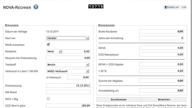 Novarechner Screenshot Leserblog