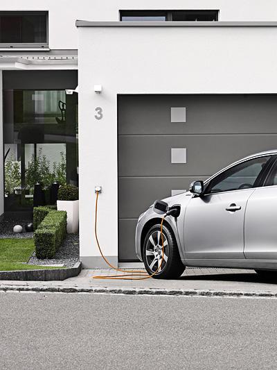Volvo V60 Diesel-Hybird plug in Exterieur statisch heck seite