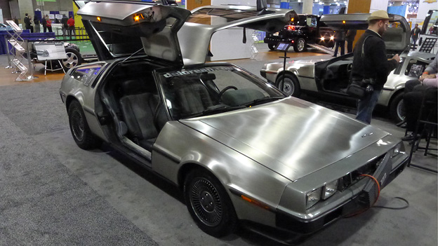 Autosalon New York DeLorean Elektroantrieb