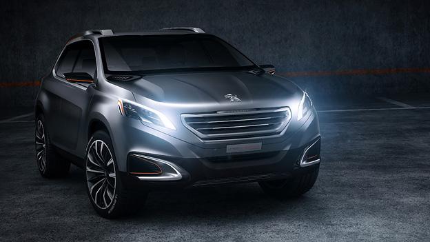 Peugeot Urban Crossover Peking 2012 News Front Seitenansicht