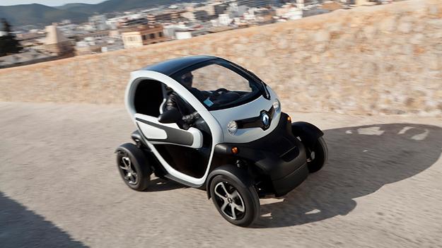 Renault Twizy Elektroauto Elektroroller Zero Emission Front