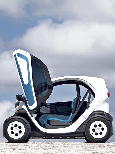 Renault Twizy Elektroauto Elektroroller Zero Emission Flügeltüren Seitenansicht