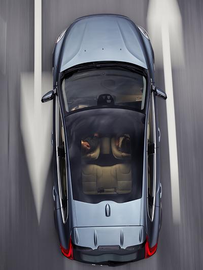 Volvo V40 Test Dach Vogelperspektive