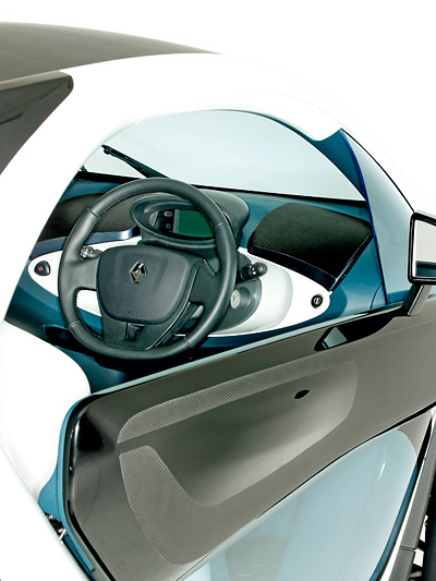 Renault Twizy Elektroauto Elektroroller Zero Emission Innenraum Interieur