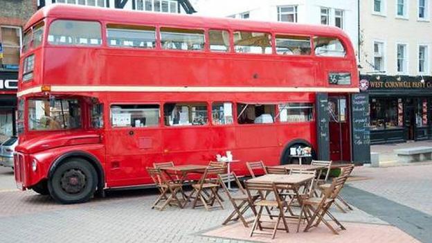 Doppeldeckerbus Restaurant mobiles Catering England London
