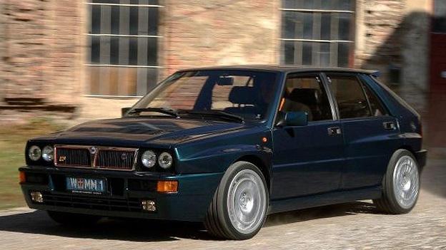 Lancia Delta HF Integrale Front Seitenansicht Rallye Oldtimer Gebrauchtwagen