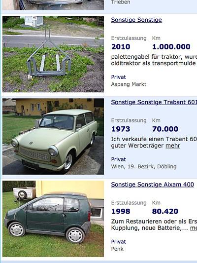 Trabant Trabi 601 Kombi gebrauchtwagen gebraucht kaufen Oldtimer Youngtimer