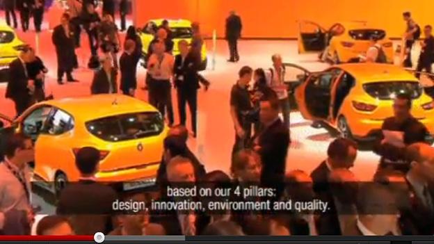 Renautl Dacia Pressekonferenz Paris 2012 Messe Video