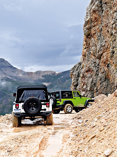 Jeep Camp Colorado Telluride Denver Durango Offroad Grand Cherokee 4x4 Gelände Million Dollar Highway