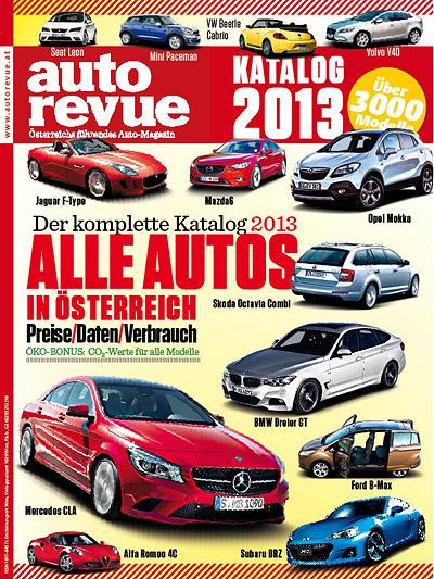 Autokatalog 2013 alle autos in Österreich alle Preise Austattungen technische Daten