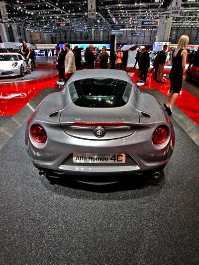 Alfa Romeo 4C stat hinten