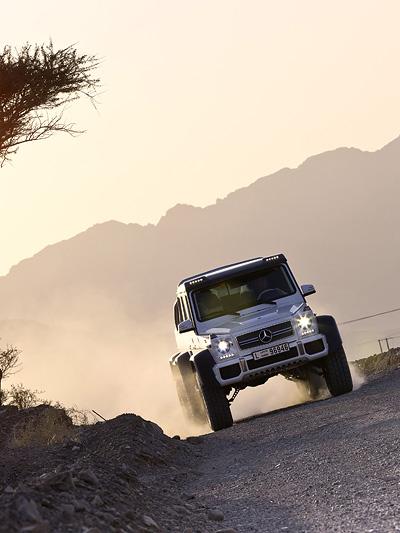 Mercedes G63 AMG 6x6 Pick up Offroad Wüste Portalchsen Scheich Reich Geld Gelände