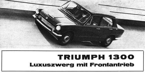 Die ungewöhnliche Anordnung von Motor und Kraftübertragung zeigt einige Ähnlichkeit mit dem Oldsmobile Toronado und leitet sich eigentlich von der Vorderhälfte eines allradgetriebenen Kleinwagens her...
