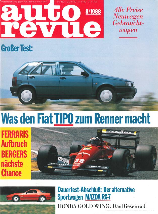 Autorevue - Cover der Ausgabe 1988 08