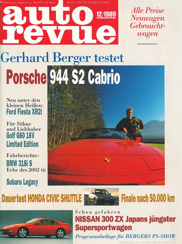 Autorevue - Cover der Ausgabe 1989 12