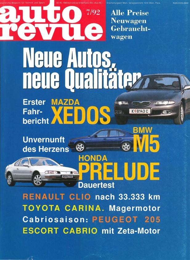 Autorevue - Cover der Ausgabe 1992 07