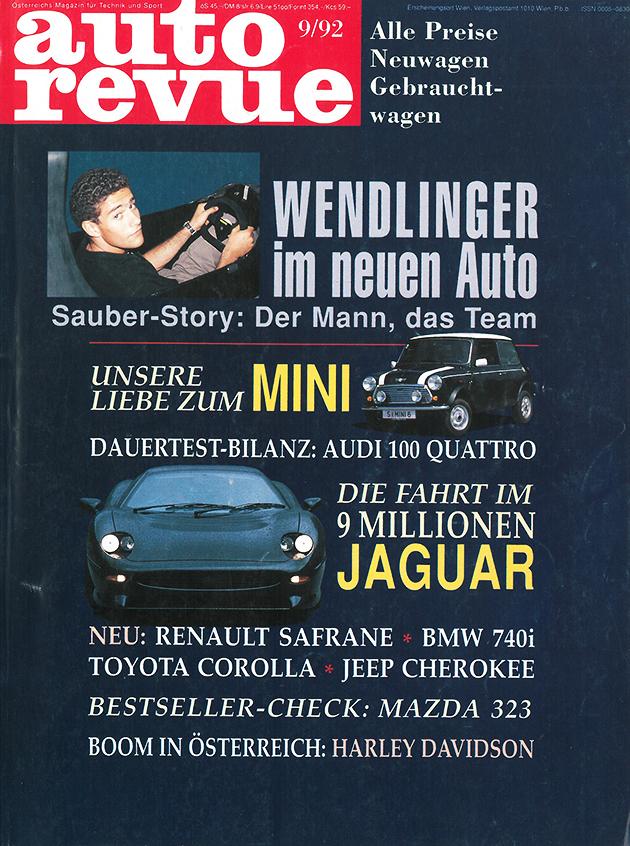 Autorevue Magazin-Archiv: Ausgabe 09/1992