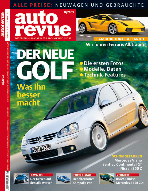 Autorevue Magazin-Archiv: Ausgabe 08/2003
