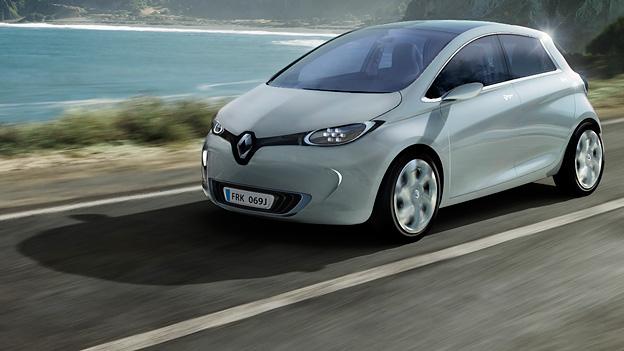 Renault Zoe dynamisch vorne links