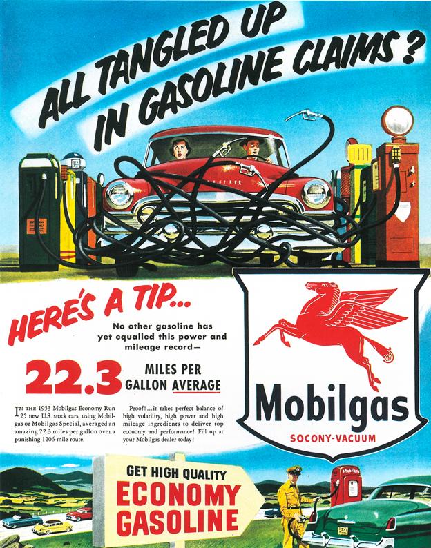 1953 - Klassische Werbung für Mobilgas