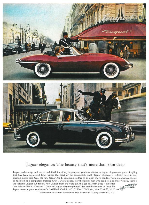 1962 - Jaguar E-Type (Jaguar XK-E) Werbung.