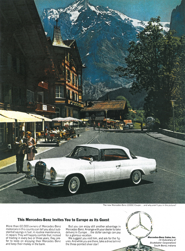 1963 mercedes 220 se coup werbung. Black Bedroom Furniture Sets. Home Design Ideas
