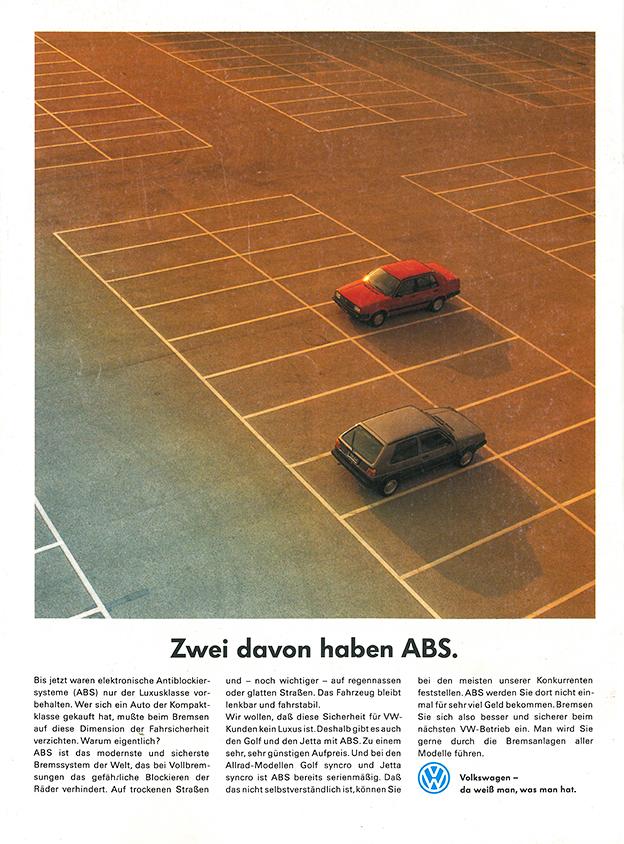 1989 - VW Golf und VW Jetta mit ABS